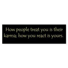 2-karma_reaction Bumper Bumper Sticker
