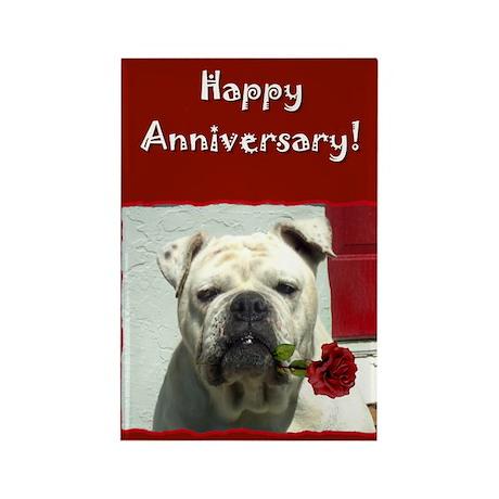 Happy Anniversary Bulldog Rectangle Magnet