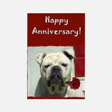 Happy Anniversary Bulldog Rectangle Magnet