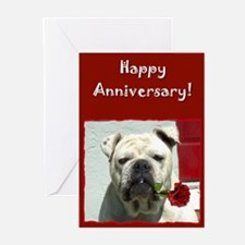 Happy Anniversary Bulldog Greeting Cards (Pk of 10
