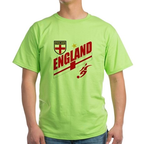 England World cup Soccer Green T-Shirt