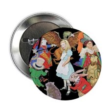 "ALICE AND FRIENDS 2.25"" Button"