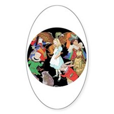 ALICE AND FRIENDS Oval Decal