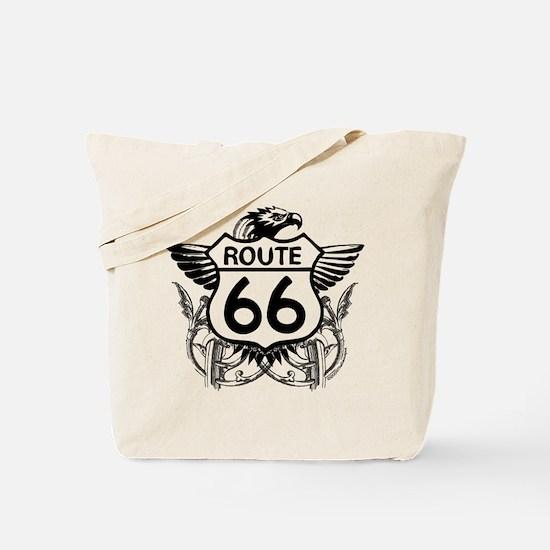 Unique Route 66 corvette Tote Bag