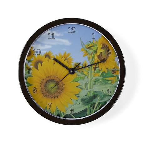 A Sunflower Wall Clock by deadhippo