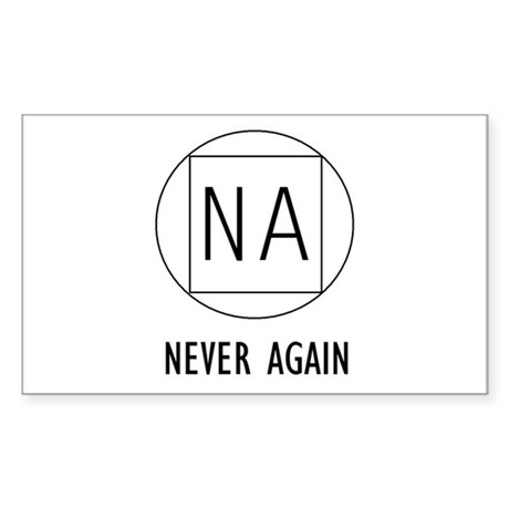 NA t-shirts & more Rectangle Sticker