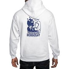 True Blue Democrat Donkey Hoodie
