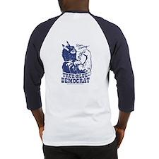 True Blue Democrat Donkey Baseball Jersey