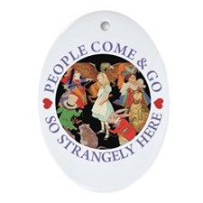 PEOPLE COME & GO Oval Ornament