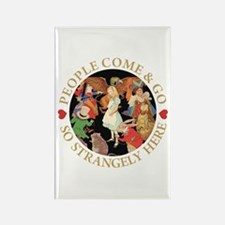 PEOPLE COME & GO Rectangle Magnet