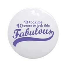 40 and Fabulous Ornament (Round)
