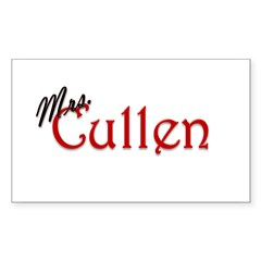 Mrs. Cullen Rectangle Decal