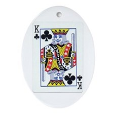 King of Clubs Oval Ornament