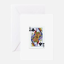 Queen of Clubs Greeting Card