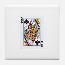 Queen of Clubs Tile Coaster