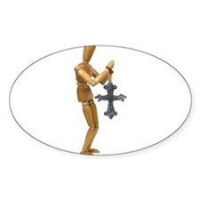 Pray Cross Oval Decal