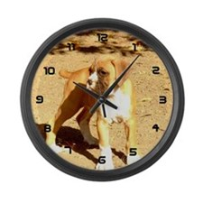 Boxer Puppy Large Wall Clock