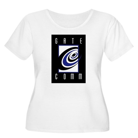 Gate Logo Merchandise Women's Plus Size Scoop Neck