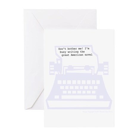 Writing great American novel Greeting Cards (Pk of