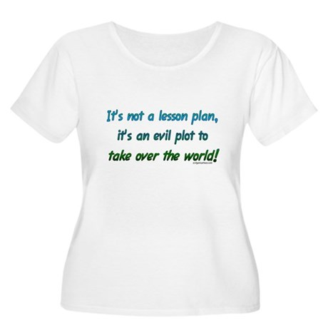 Evil lesson plan, teacher gift Women's Plus Size S
