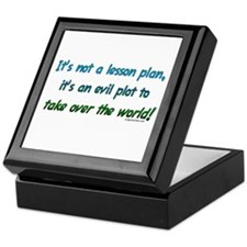 Evil lesson plan, teacher gift Keepsake Box