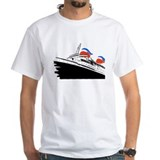 Cruise ships Mens White T-shirts