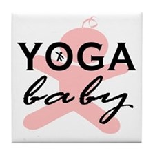 Cute Yoga mommy Tile Coaster