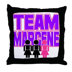 Team Margene Throw Pillow