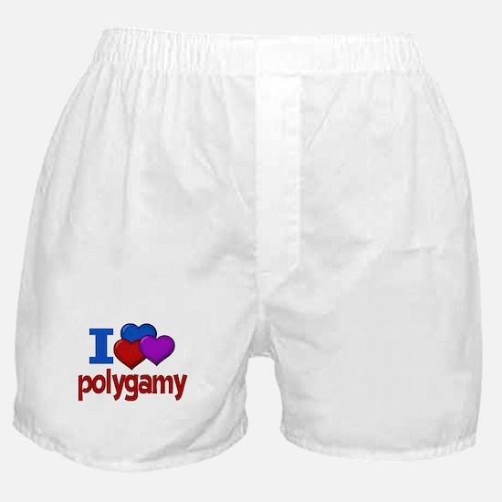 I Love Polygamy Boxer Shorts