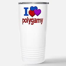 I Love Polygamy Stainless Steel Travel Mug
