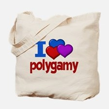 I Love Polygamy Tote Bag