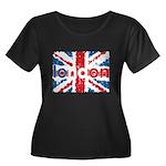UK Flag - London Women's Plus Size Scoop Neck Dark