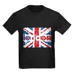 UK Flag - London Kids Dark T-Shirt