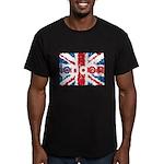 UK Flag - London Men's Fitted T-Shirt (dark)