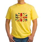 UK Flag - London Yellow T-Shirt