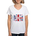 UK Flag - London Women's V-Neck T-Shirt