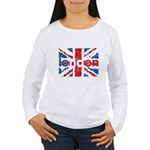 UK Flag - London Women's Long Sleeve T-Shirt