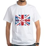 UK Flag - London White T-Shirt