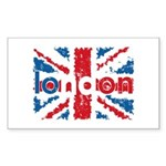 UK Flag - London Rectangle Sticker