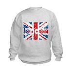 UK Flag - London Kids Sweatshirt