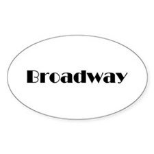 Broadway Oval Decal