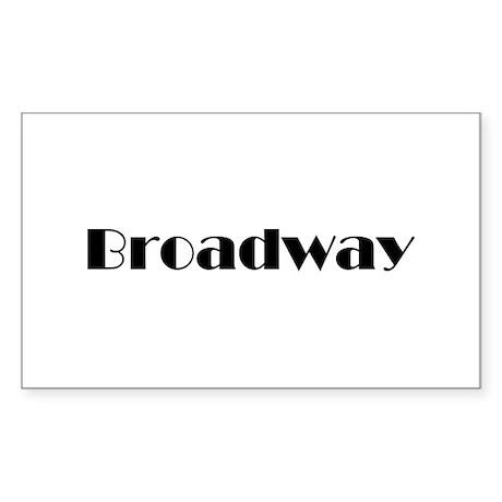 Broadway Rectangle Sticker