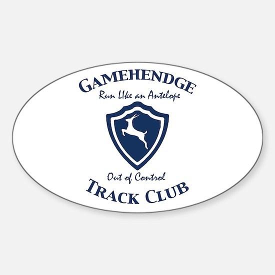 Gamehendge Track Club Oval Decal