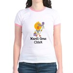 Mardi Gras Chick Jr. Ringer T-Shirt