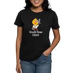 Mardi Gras Chick Women's Dark T-Shirt