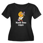 Mardi Gras Chick Women's Plus Size Scoop Neck Dark