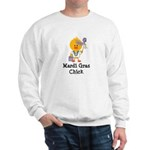 Mardi Gras Chick Sweatshirt