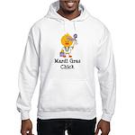 Mardi Gras Chick Hooded Sweatshirt