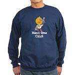 Mardi Gras Chick Sweatshirt (dark)