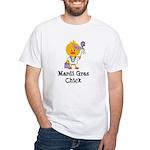 Mardi Gras Chick White T-Shirt